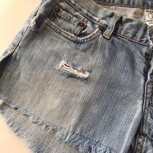 Lucky brand Jean cut off shredded shorts